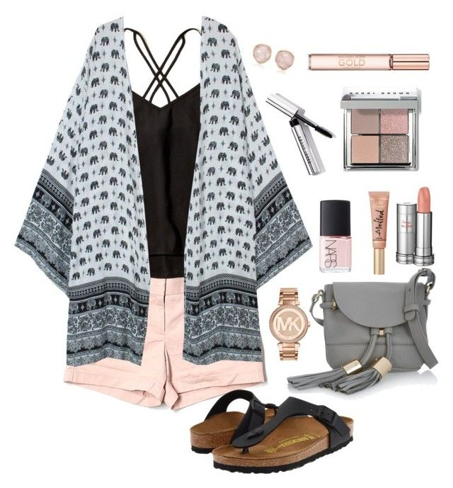 """""""A Day Out Shopping"""" by labsrock10 ❤ liked on Polyvore featuring J.Crew, Hollister Co., Birkenstock, Monica Vinader, NARS Cosmetics, See by Chloé, Bobbi Brown Cosmetics, Michael Kors and Lancôme"""