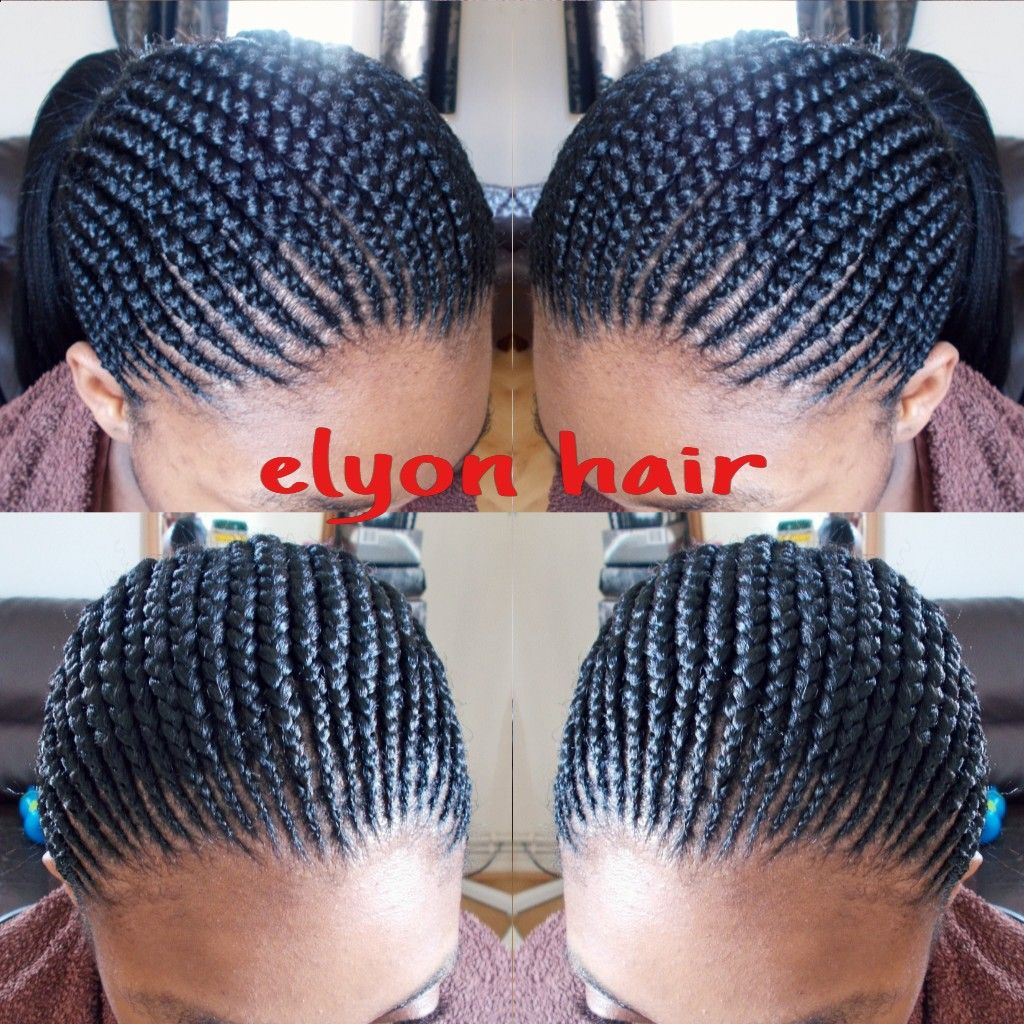 small Ghana cornrow/feed in cornrow