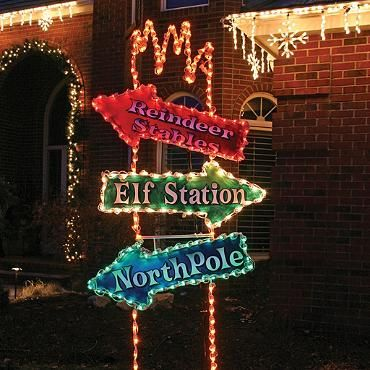 Lighted Arrow Post 8-ft Sign Arrow, Craft gifts and Christmas time