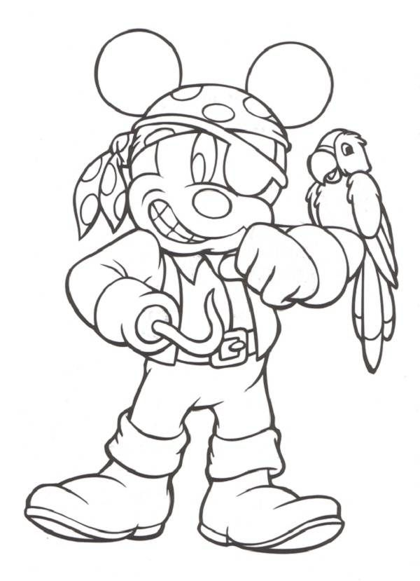 efd7a46bb5fb Pirate Mickey Printable Coloring Pages