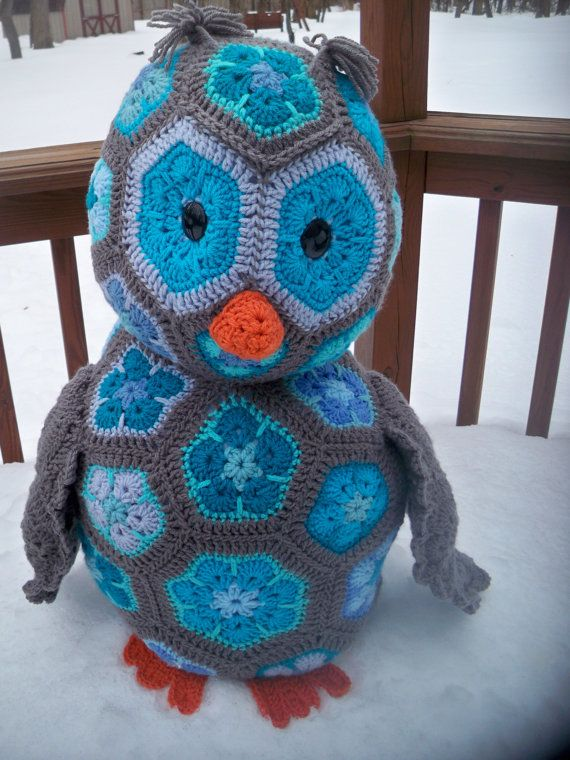 Crochet Owl-Bird-Aloysius the African by CrowesNestStitchery ...