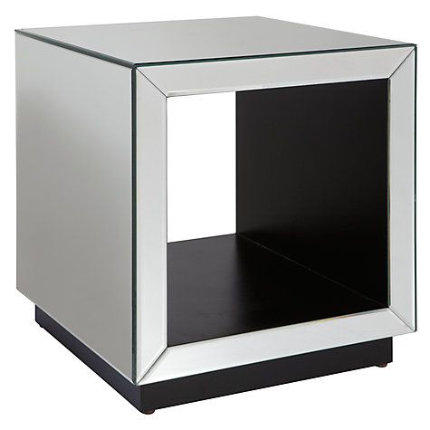 Charmant Buy John Lewis Astoria Mirrored Cube Side Table, Mirror Online At  Johnlewis.com 125