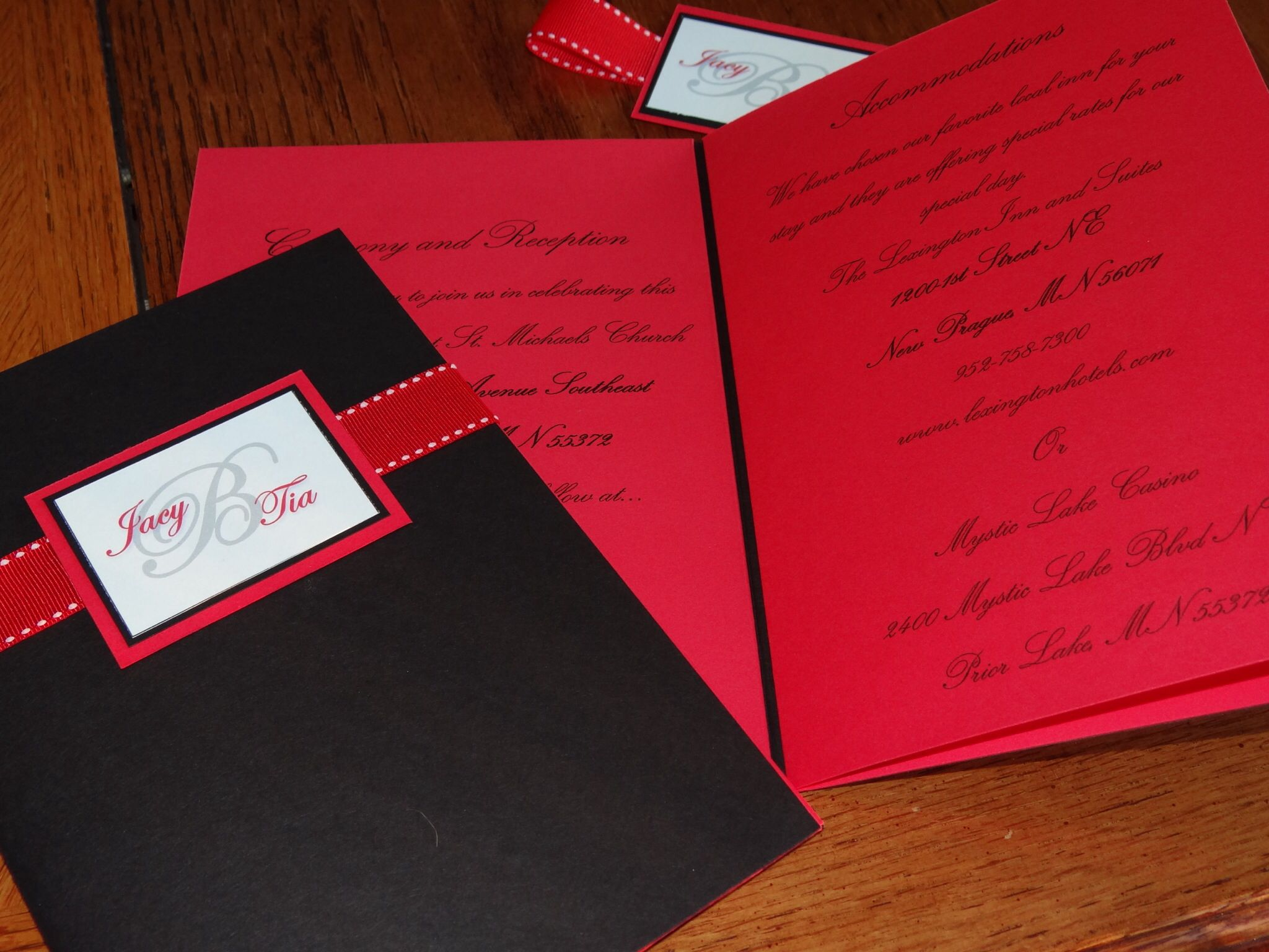 4 page wedding booklet invitation Kaylamaedesigns1@gmail.com ...