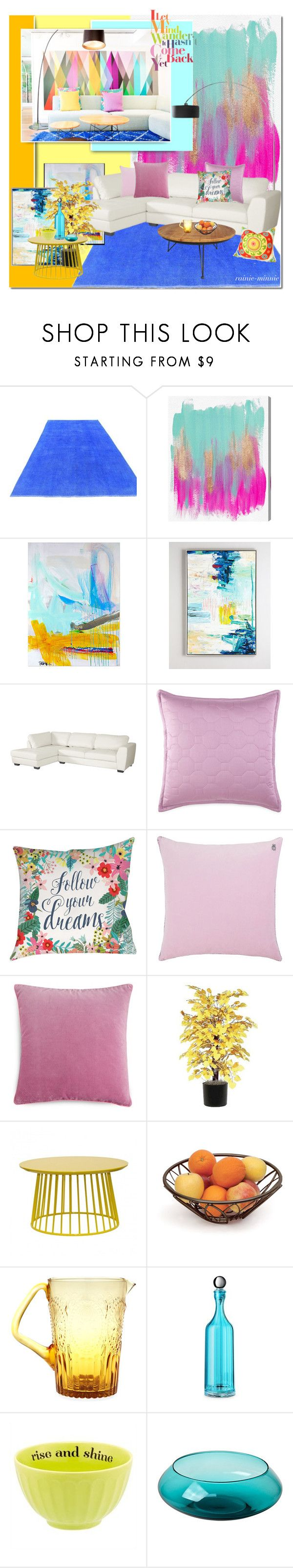 """""""Pop of color"""" by rainie-minnie ❤ liked on Polyvore featuring interior, interiors, interior design, home, home decor, interior decorating, Oliver Gal Artist Co., Dot & Bo, JAG Zoeppritz and Bluebellgray"""