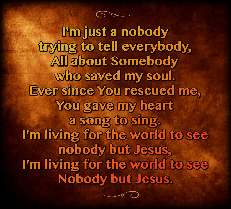 """Nobody"" ~ Casting Crowns (with Matthew West)"