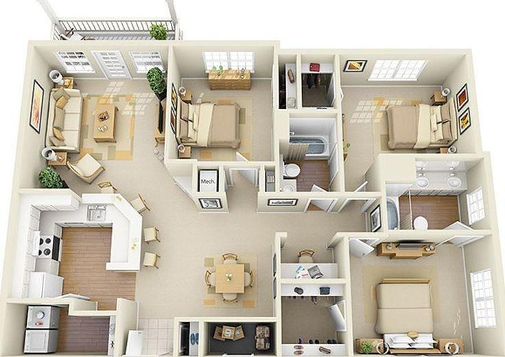 Planos De Casas Pequenas Con Medidas