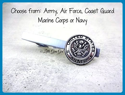 Silver military tie clip 5 styles available army air force coast silver military tie clip 5 styles available army air force coast guard marine corps or navy ccuart Images