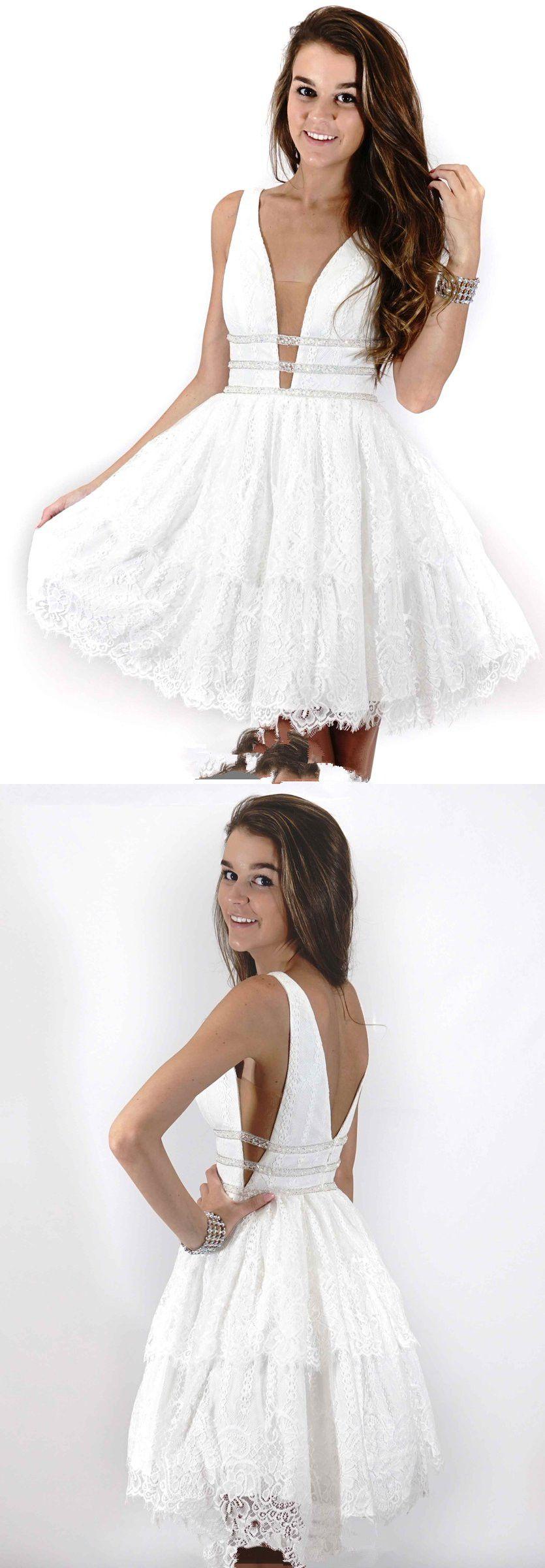 Short black lace homecoming dress elegant prom dresses