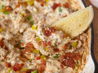 Bacon Cheeseburger Dip - Dinner, then Dessert