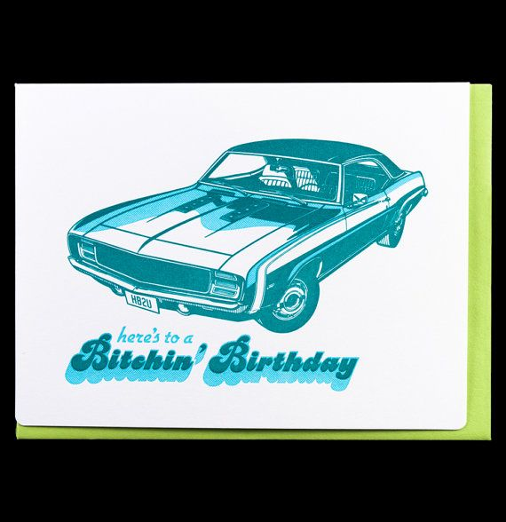 Muscle Car 089 birthday by dudeandchick on Etsy 450 This