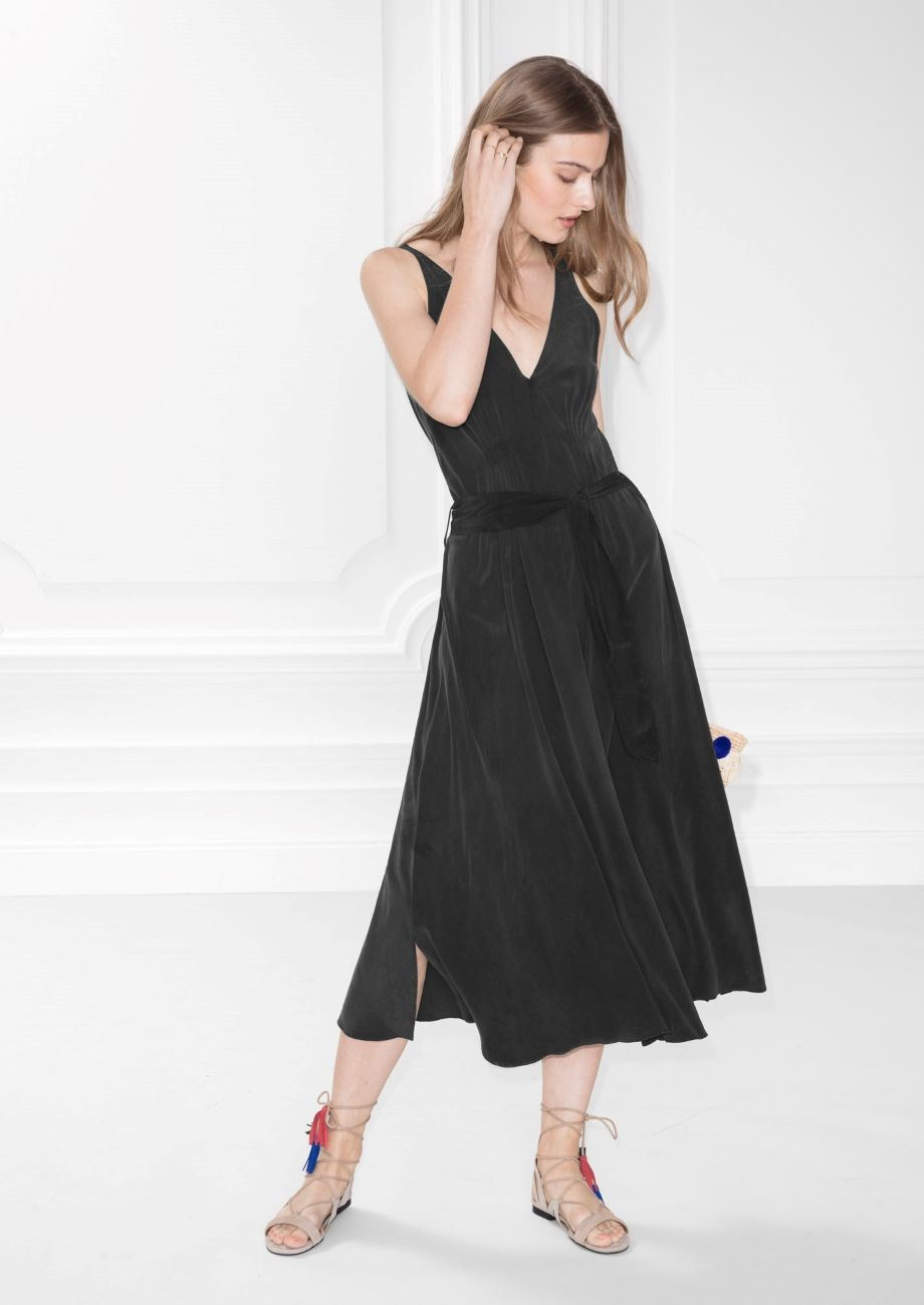 Other Stories Image 1 Of Silk Dress In Black Black Sophisticated Dress Wish Clothing Dresses