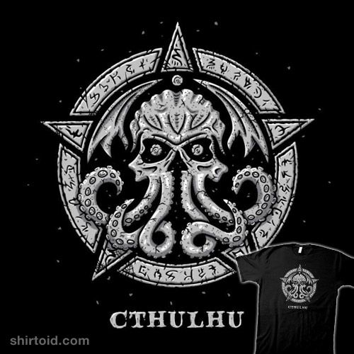 Cthulhu – The Prophet of Doom | Shirtoid #cthulhu #hplovecraft #horror #simic