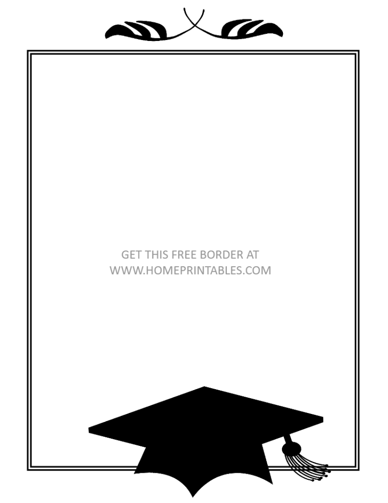 15 Free Graduation Borders With 5 New Designs Home Printables Free Printable Graduation Invitations Graduation Invitations Graduation Invitations Template