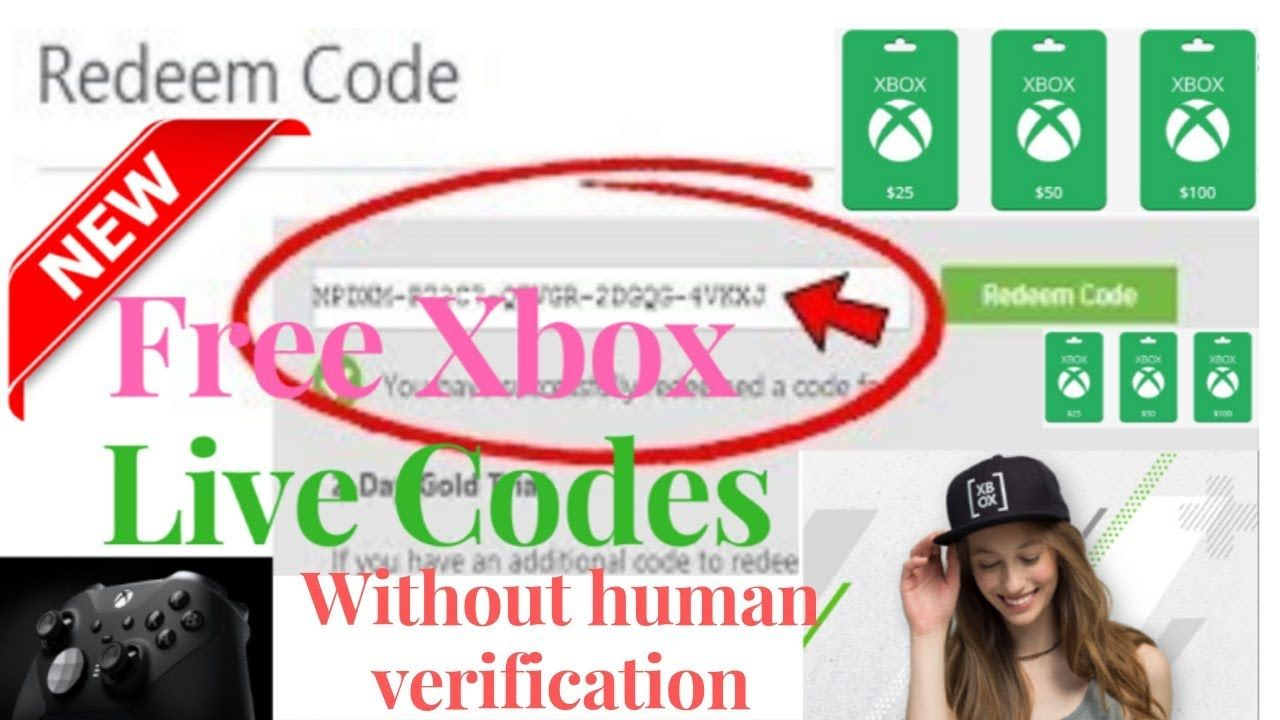 Free Xbox Live Codes Without Human Verification Free Xbox Live Codes Xbox Gift Card Xbox Gifts Xbox Live Gift Card