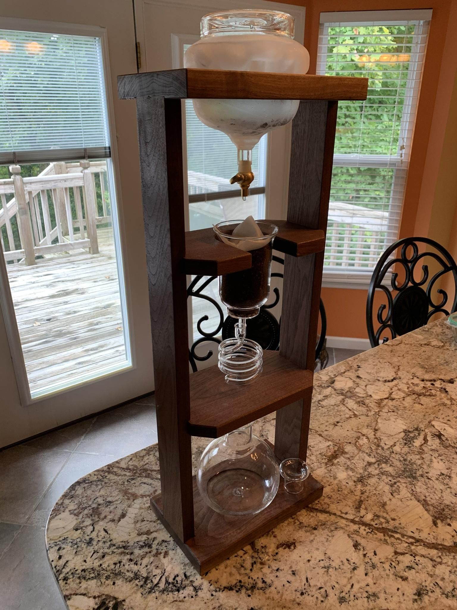 I built a Kyoto Cold Brew drip coffee tower handmade