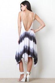 Dip Dye Asymmetrical Dress