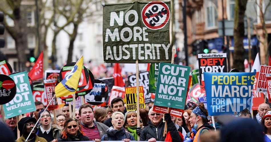 An antiausterity demonstration in central london in april