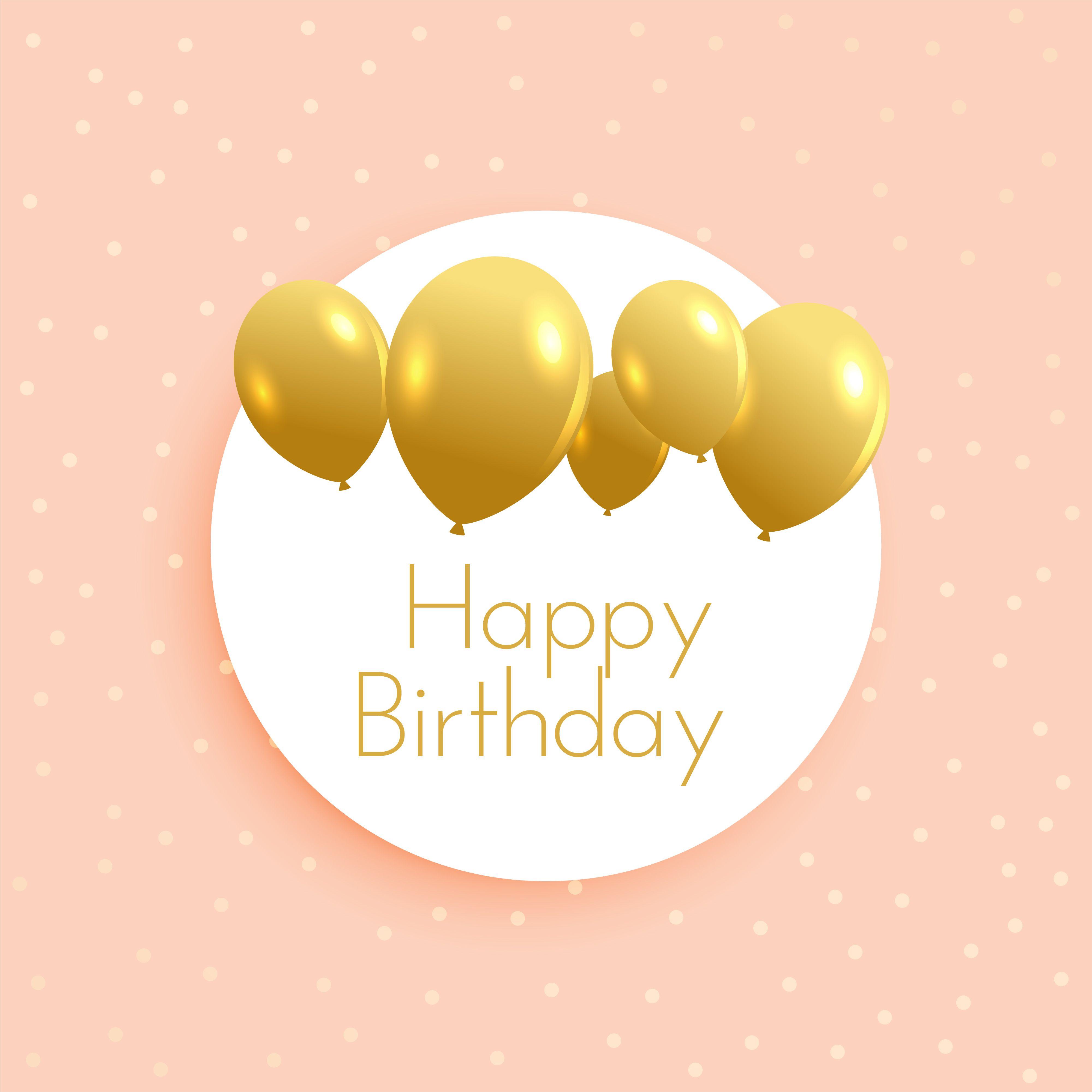Soft birthday background with golden balloons birthday pinterest