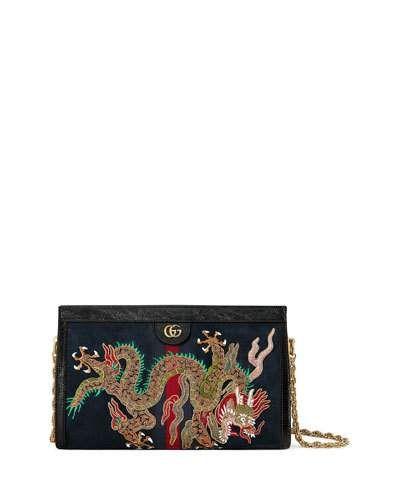 85b3fb5fe V3QE3 Gucci Linea Dragoni Medium Chain Shoulder Bag | BAGS GALORE ...