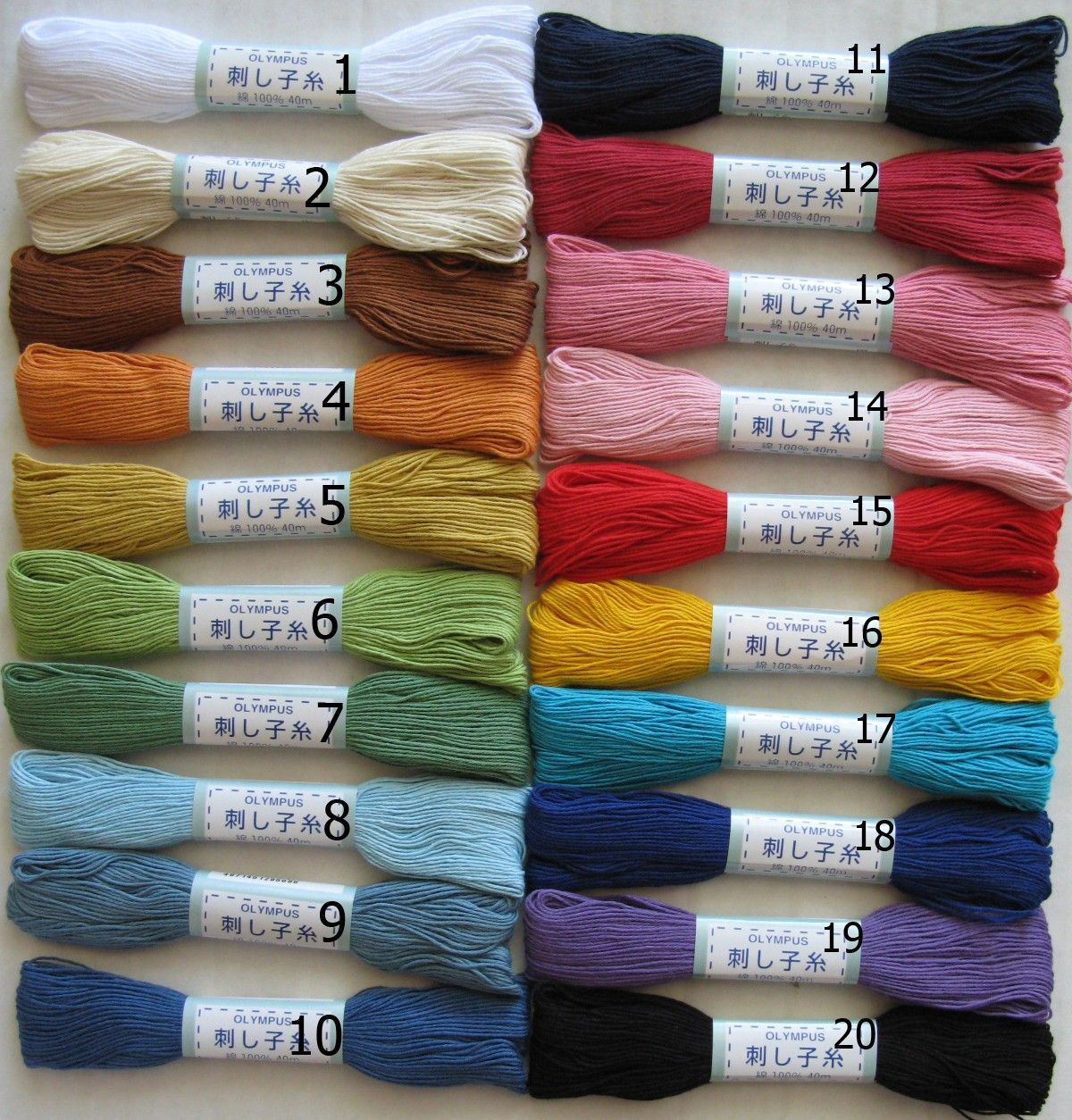 SASHIKO THREADS Japanese Hand Embroidery Threads by PinkNelie
