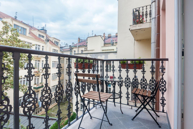 Balcony Stylish Apartment Apartments For Rent Czechia