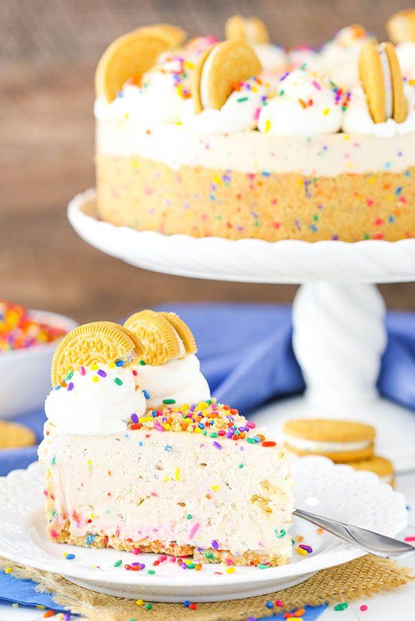 No Bake Golden Birthday Cake Oreo Cheesecake Golden Birthday Oreo