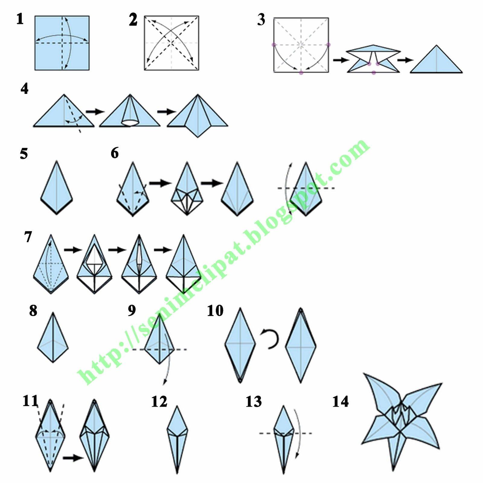 tutorial origami bunga