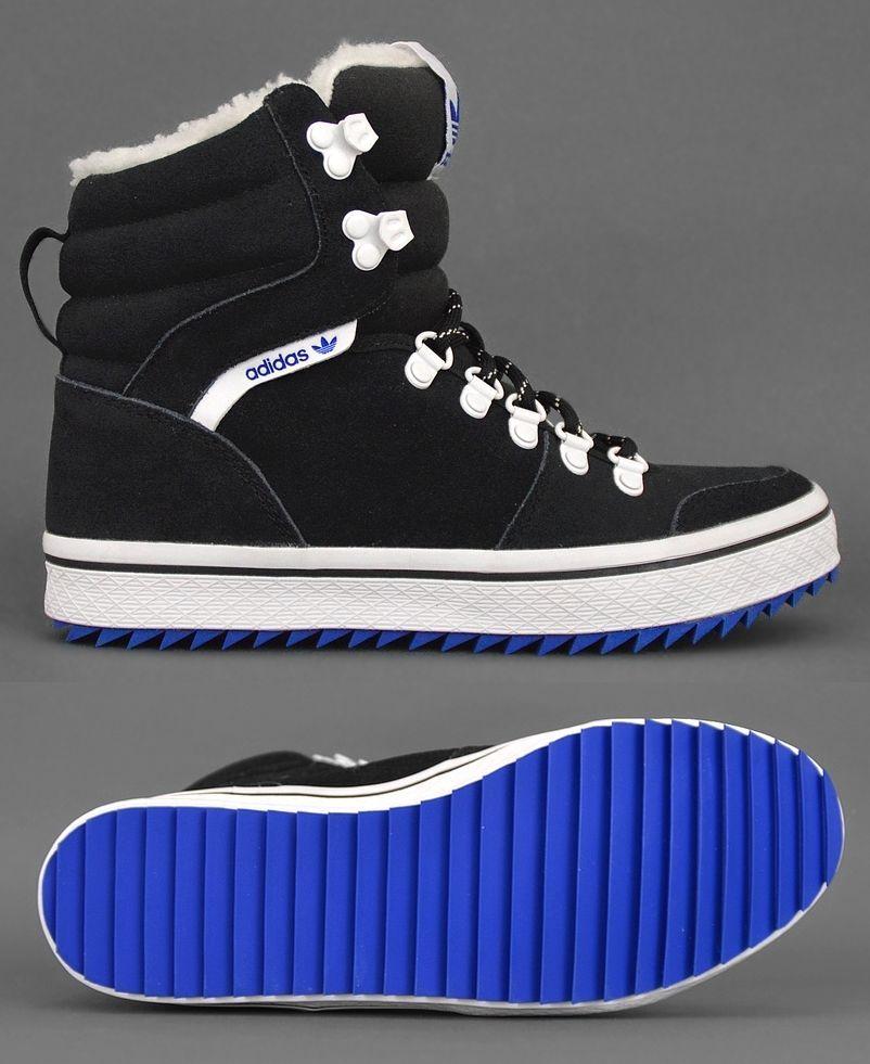 Adidas HONEY HILL W Damen Winterschuhe Fell Winter Stiefel Schuhe schwarz/weiss   eBay