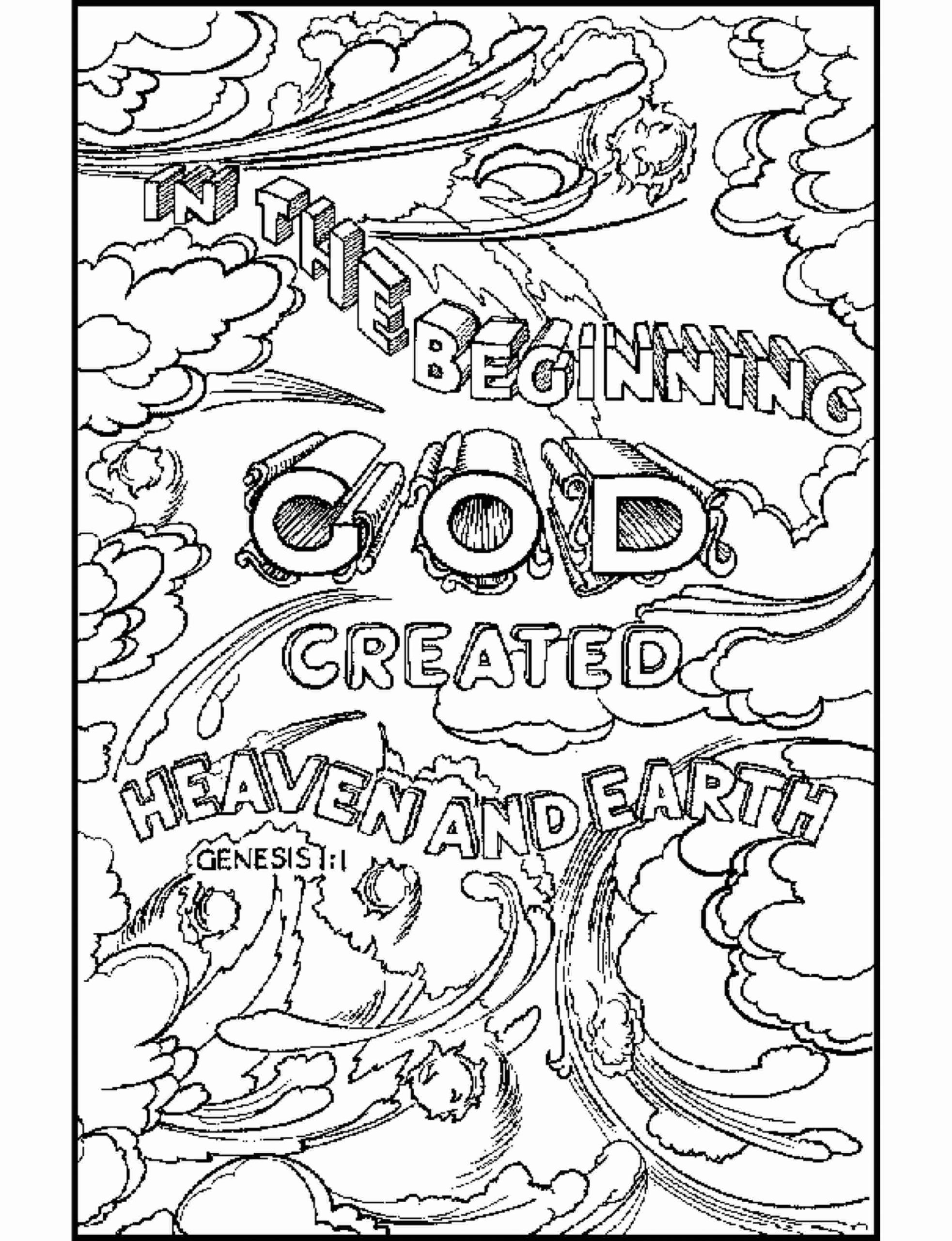 Creation Coloring Pages Pdf Booklet 7 Days Of Colouring For