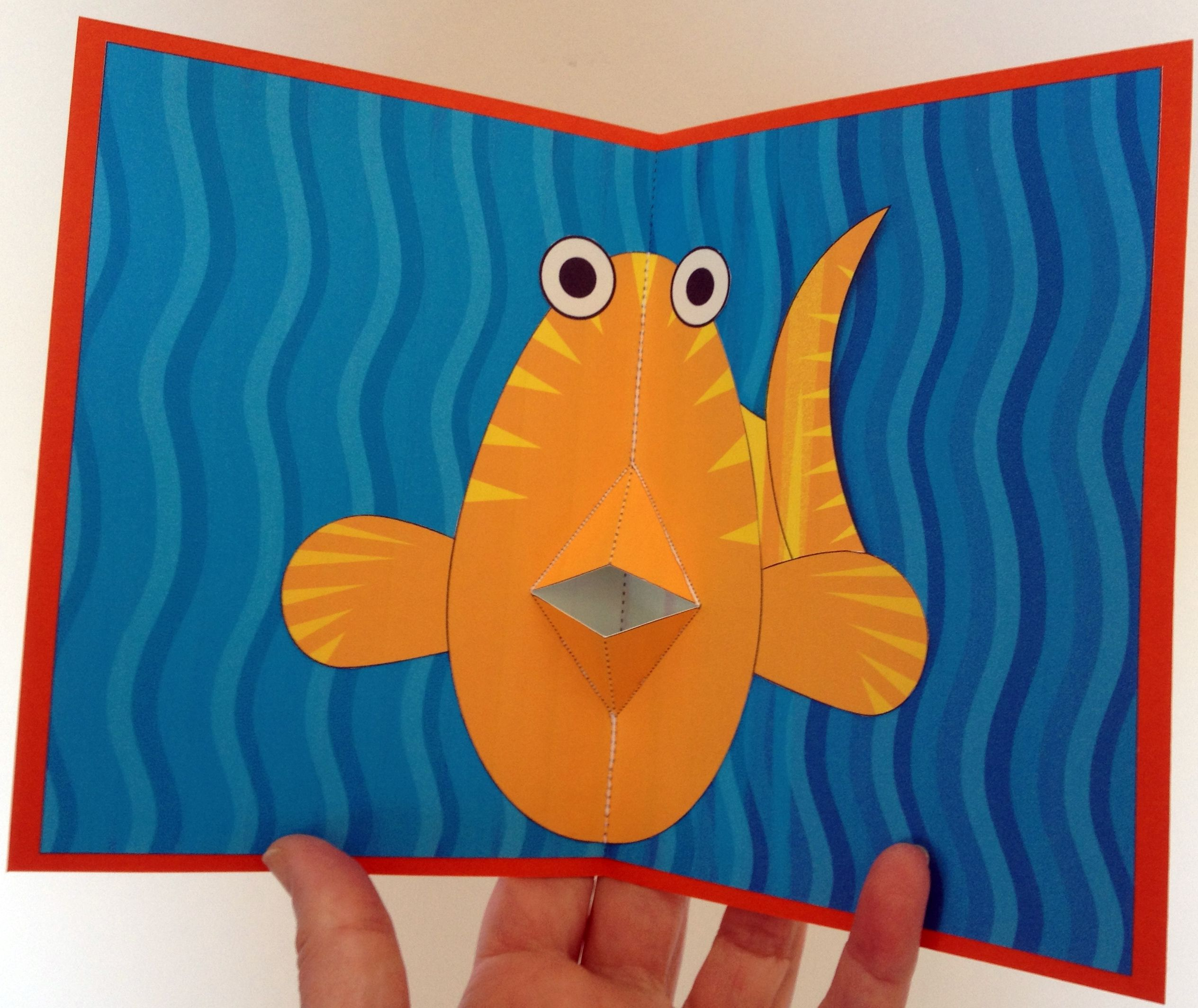 Fish Pop Up Card Template From Creativecenterbr Nana Cards