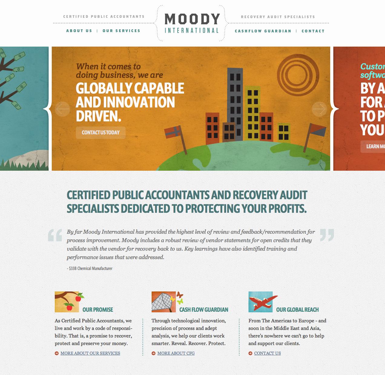 Accountants Website With Great Illustrations Text Heavy Web Design Creative Website Design Web Development Design