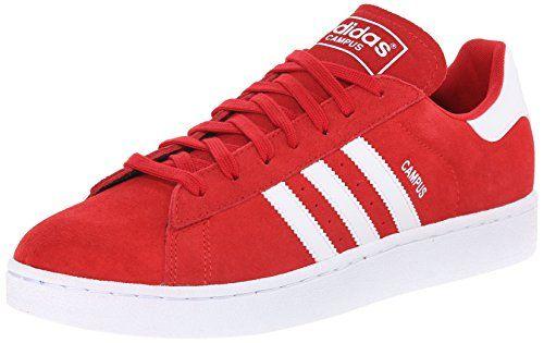 adidas Originals Men's Campus Lace Up Shoe, Scarlet/White/Scarlet, 12 M