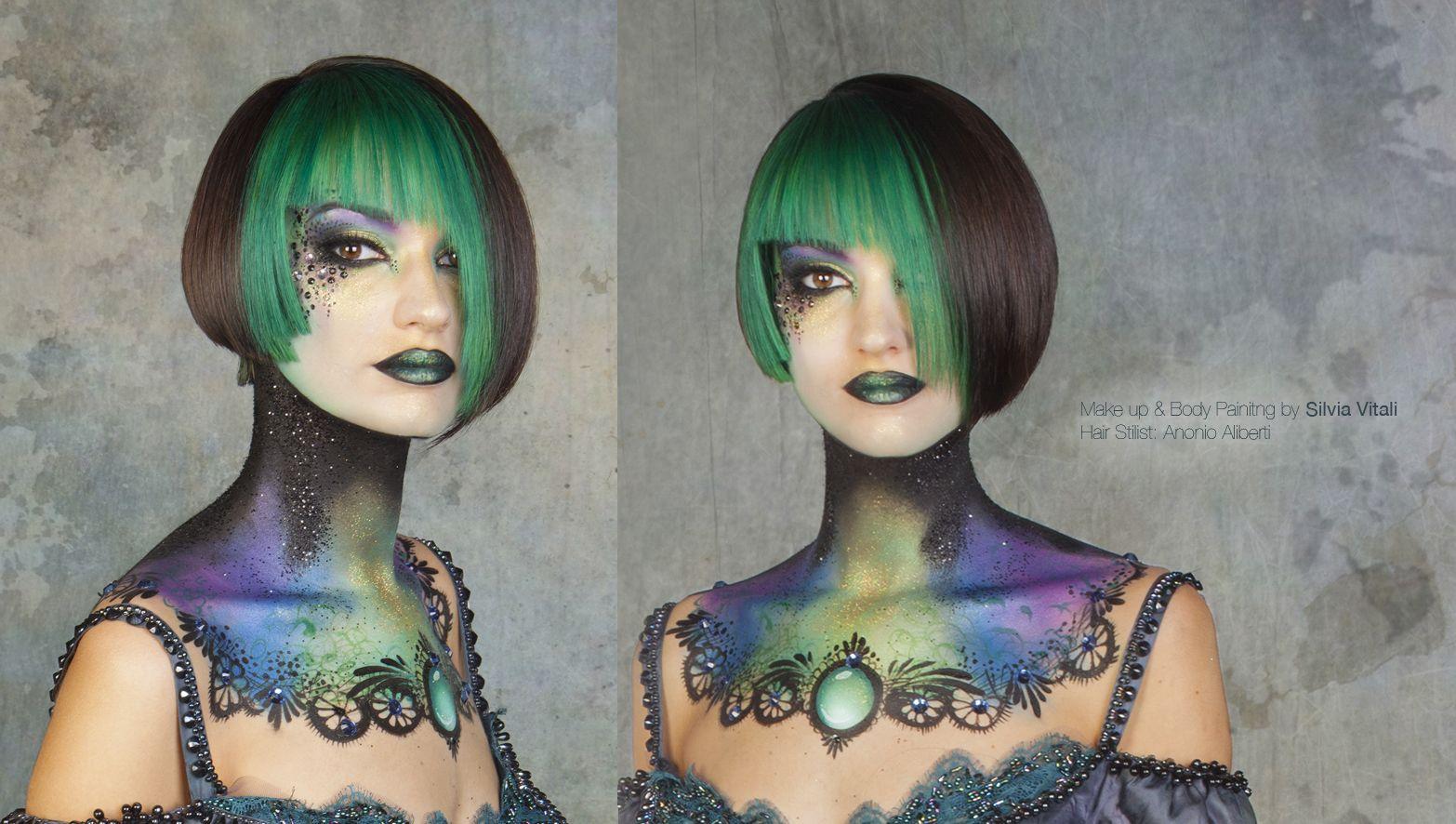 Make up & Body painitng Silvia Vitali Body  Hair Stilist: Antonio Aliberti 1°place_Forum del Parrucchiere Eccelente 2014