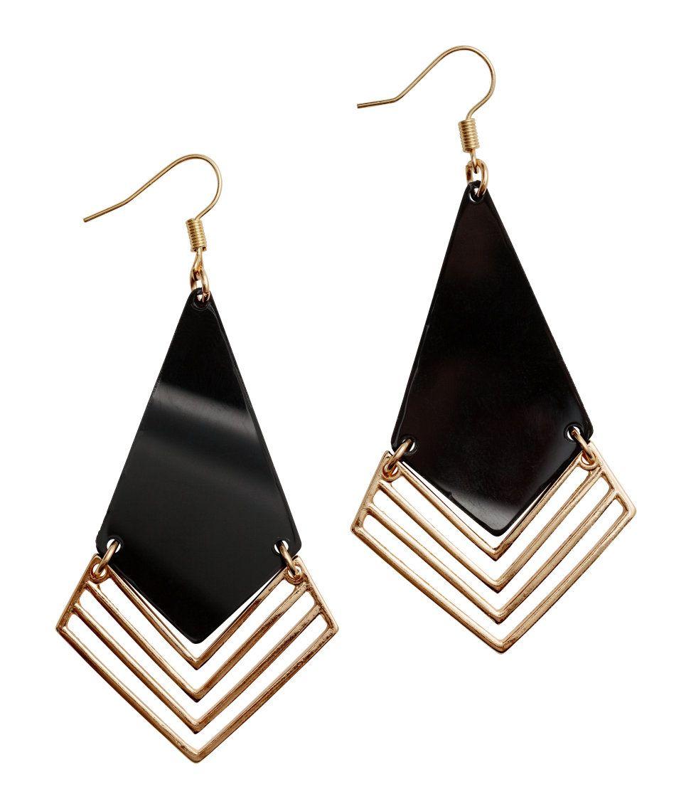 Open Triangle Wire Dangle Earrings Geometric Design for Men /& Women