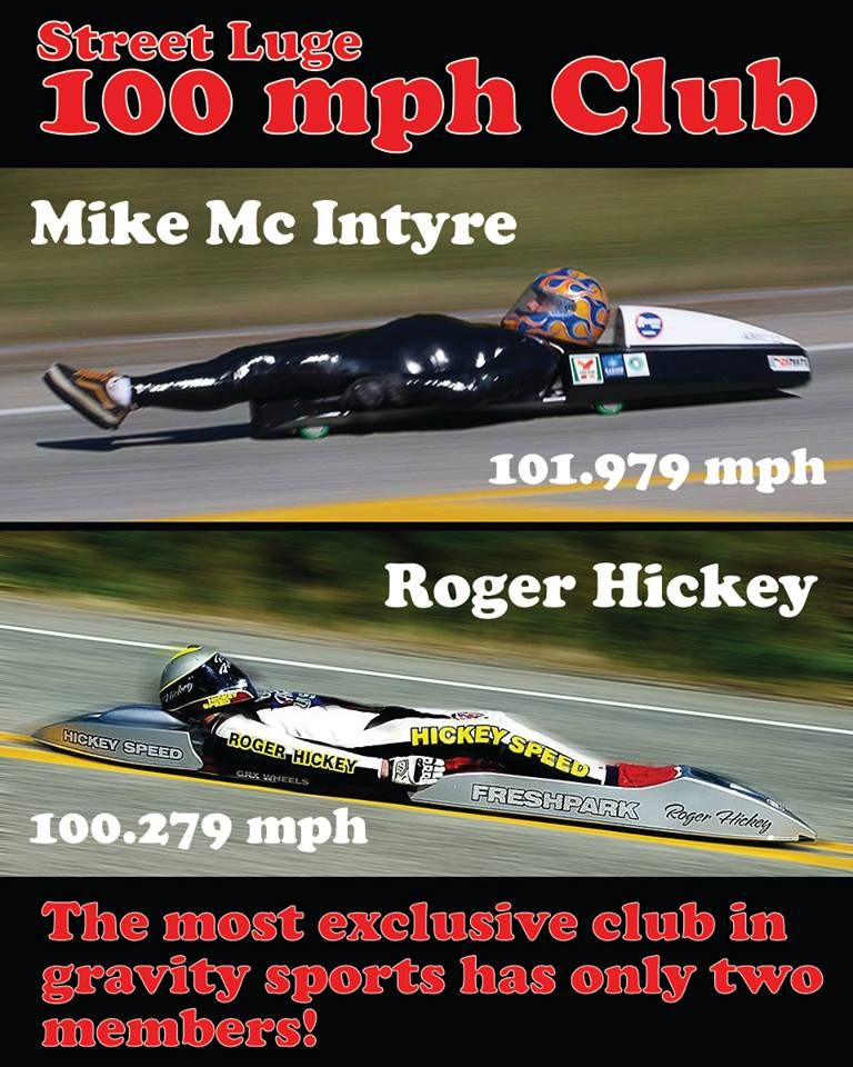 The 100 Mph Club Luge Toy Street Inline Skating