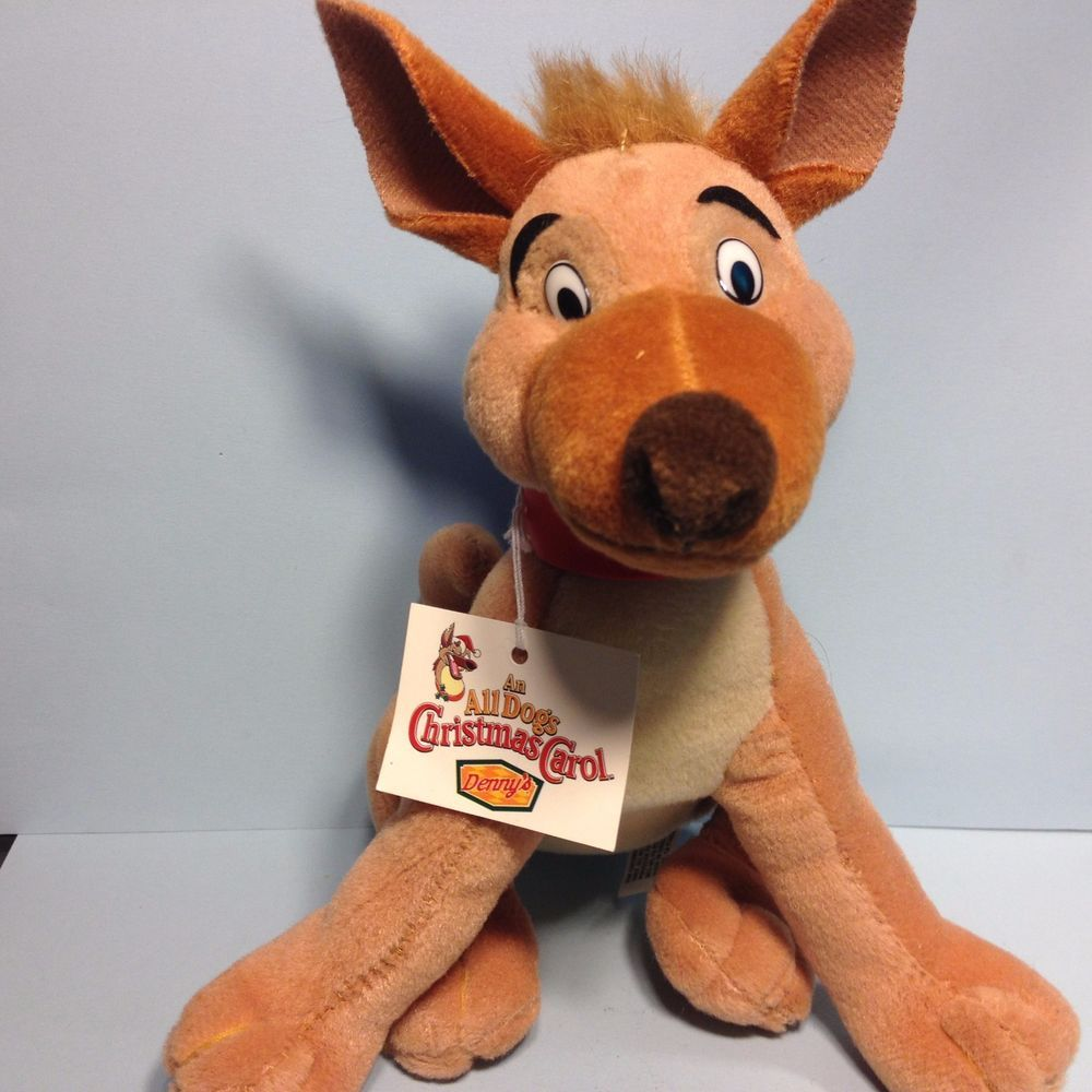 All Dogs Go To Heaven Christmas Carol Charlie 1998 Plush Toy