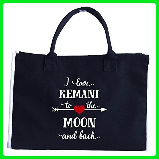I Love Kemani To The Moon And Back.gift For Boyfriend - Tote Bag - Top handle bags (*Amazon Partner-Link)