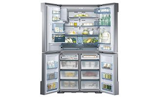 34 Cu Ft 4 Door Flex Chef Collection Refrigerator With Sparkling Water Dispenser Refrigerators Rf34h9960s4 Aa Samsung Us French Door Refrigerator Refrigerator Kitchen And Bath