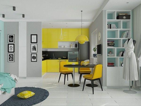 4 Small Beautiful Apartments Under 50 Square Meters Small Flat Interior Small House Interior Design Apartment Design