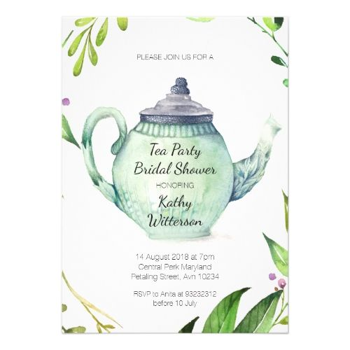 Botanical tea party bridal shower invitation shower invitations botanical tea party bridal shower invitation filmwisefo Gallery