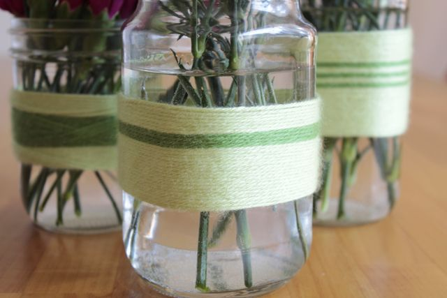 Diy Vases For Mothers Day Diy Projects Pinterest Jar Yarns
