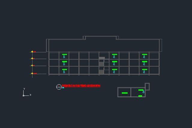Gambar Kerja Skematik Diagram Pemadam Kebakaran Gedung 3 Lantai File Dwg Di 2020