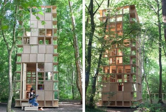 L'Observatoire by CLP Architects Is A Lookout Tower That Blends Into The Forest | Inhabitat - Sustainable Design Innovation, Eco Architecture, Green Building