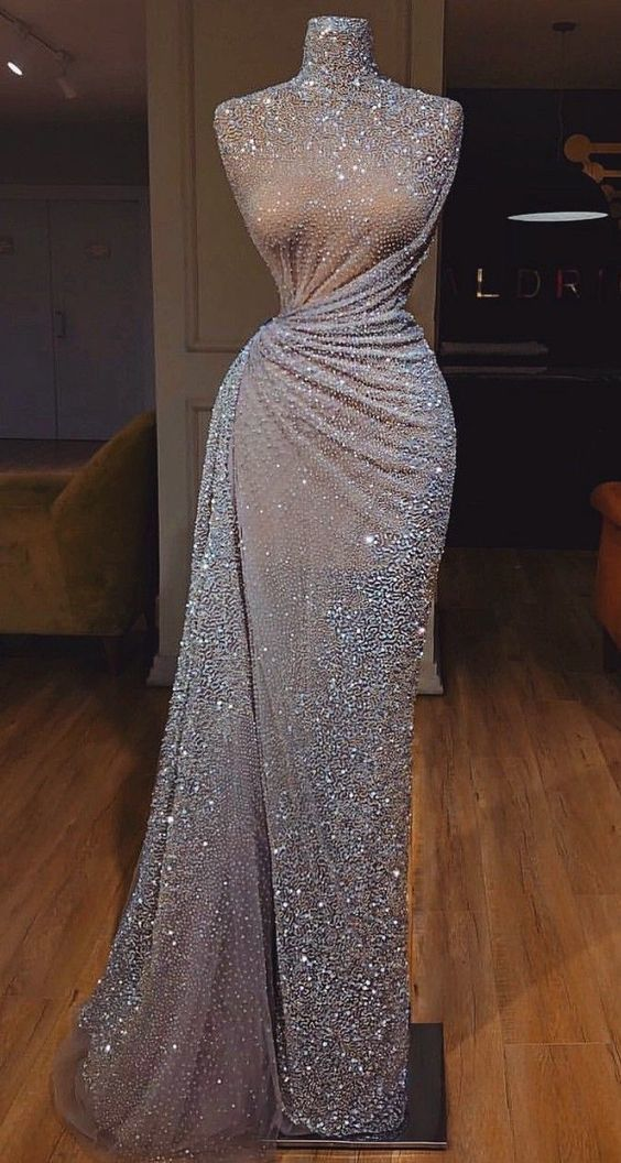 Sparkly Gorgeous Shinning Long Prom Dress, Unique Design Pretty Fashion Prom Dresses ML4796 – Dress
