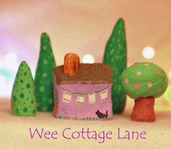 Tea Shop Mini Tea Shop Wee Cottage Lane Ceramic by WeeCottageLane