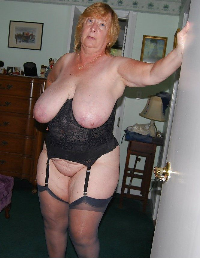 Mature busty beautiful granny