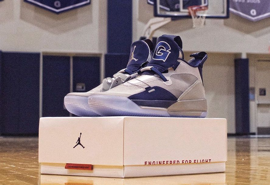5149699f1ec Air Jordan 33 For The Georgetown Hoyas Georgetown Hoyas, Sneaker Bar, Air  Jordans,