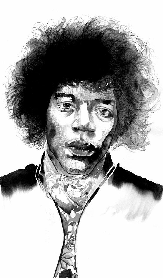 Jimi Hendrix Jimi Hendrix Hendrix Art