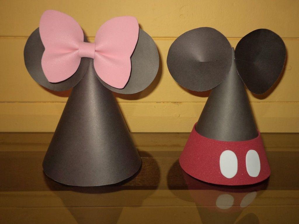 Gorros de cumpleaños de Mickey & Minnie