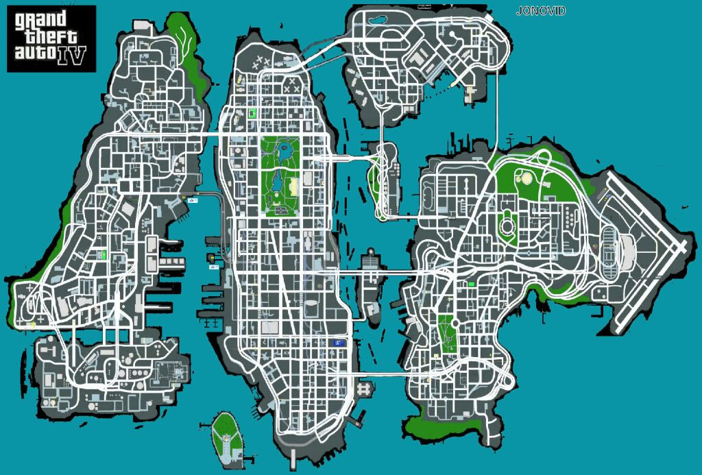 Grand Theft Auto 4 Maps Grand Theft Auto Iv Map Image Grand